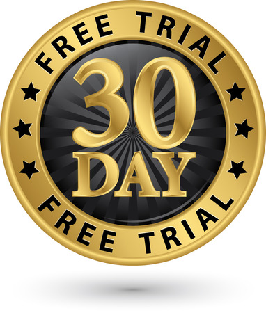 51816455 - 30 day free trial golden label, vector illustration